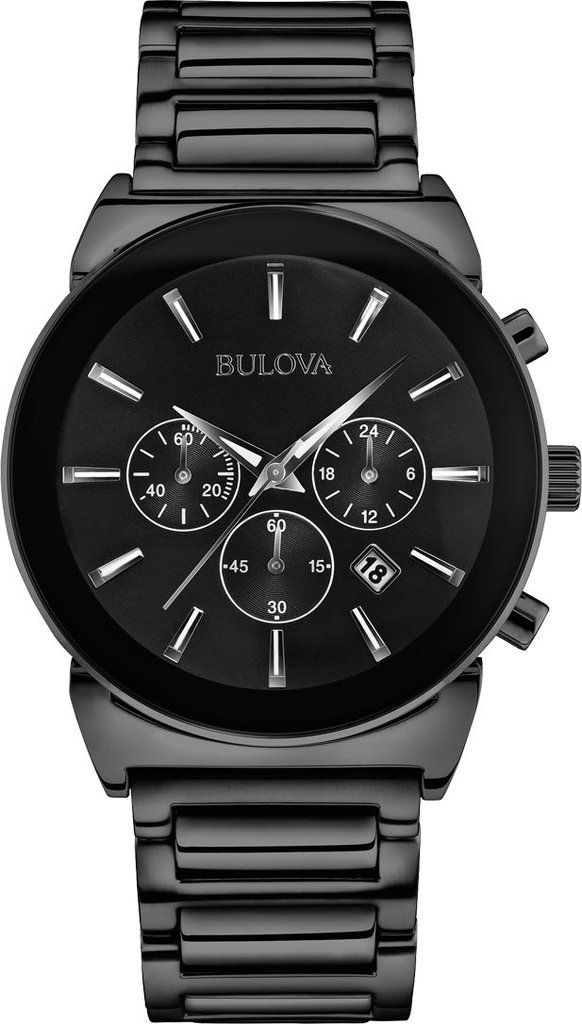 @bulova Watch Gents Dress #bezel-fixed #bracelet-strap-steel #brand-bulova #case-material-black-pvd #case-width-41mm #chronograph-yes #date-yes #delivery-timescale-4-7-days #dial-colour-black #fashion #gender-mens #movement-quartz-battery #official-stockist-for-bulova-watches #packaging-bulova-watch-packaging #style-dress #subcat-dress #supplier-model-no-98b215 #warranty-bulova-official-3-year-guarantee #water-resistant-30m