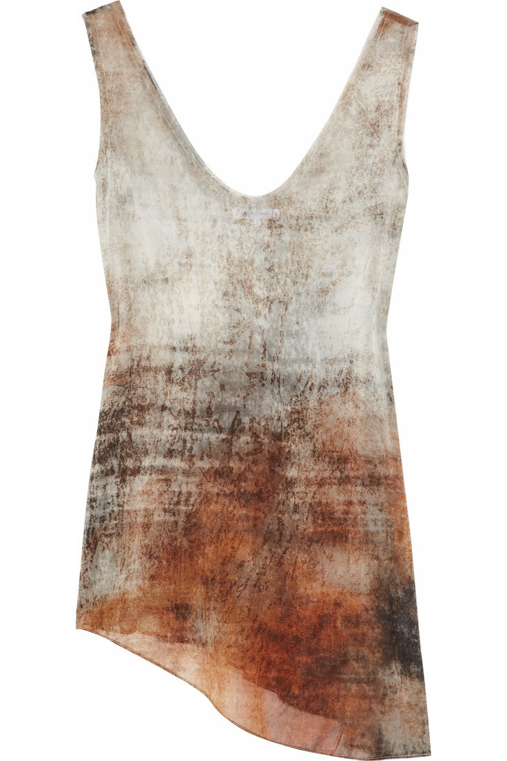 tank, smoky gradient color, asymmetry - helmut lang