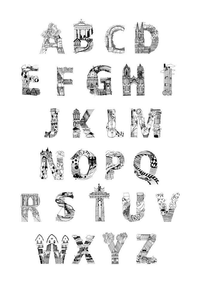 Goethe Institut Alphabet Design - ProjectsProjected