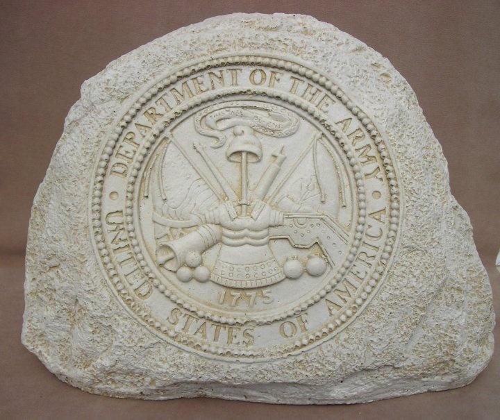 United states army cement garden stone garden statues for Pinterest garden stones