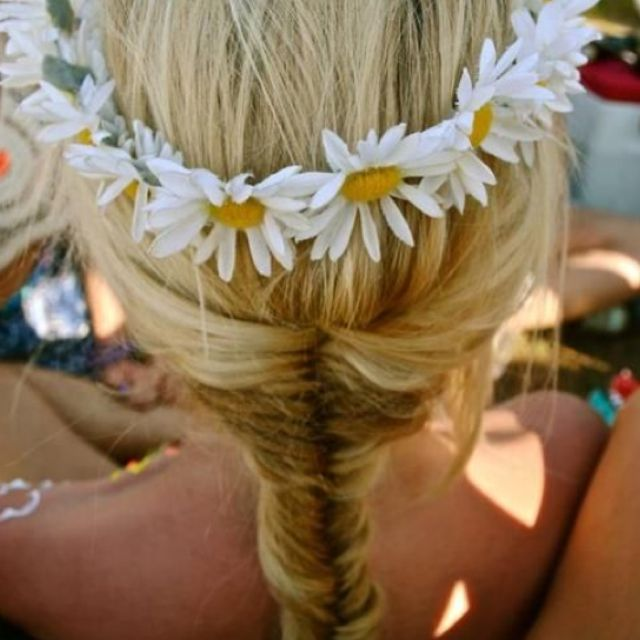 Perfect hair for festival season or for prom.: