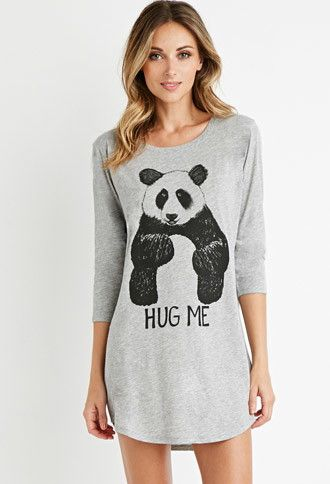 Panda Graphic Nightdress | Forever 21 - 2000141170