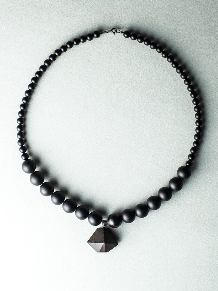 Beaded D Necklace by Carla Szabo #jewelry #design #necklace