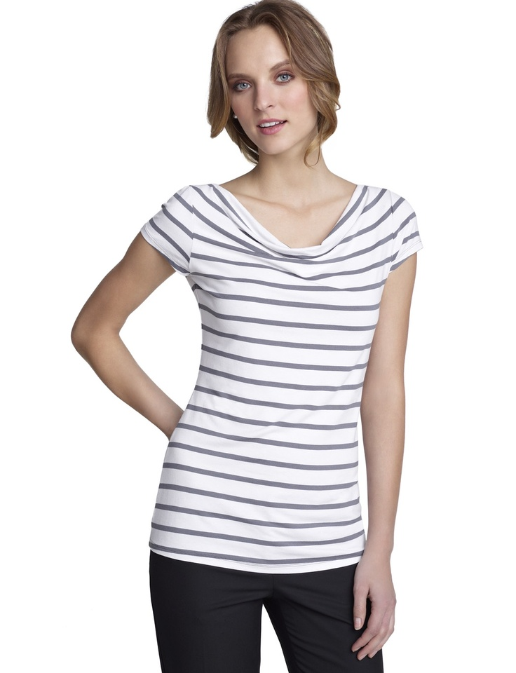 LimitedStyle, Shirts, Neck Stripes, The Limited, Drapes Neck, Stripes Tees