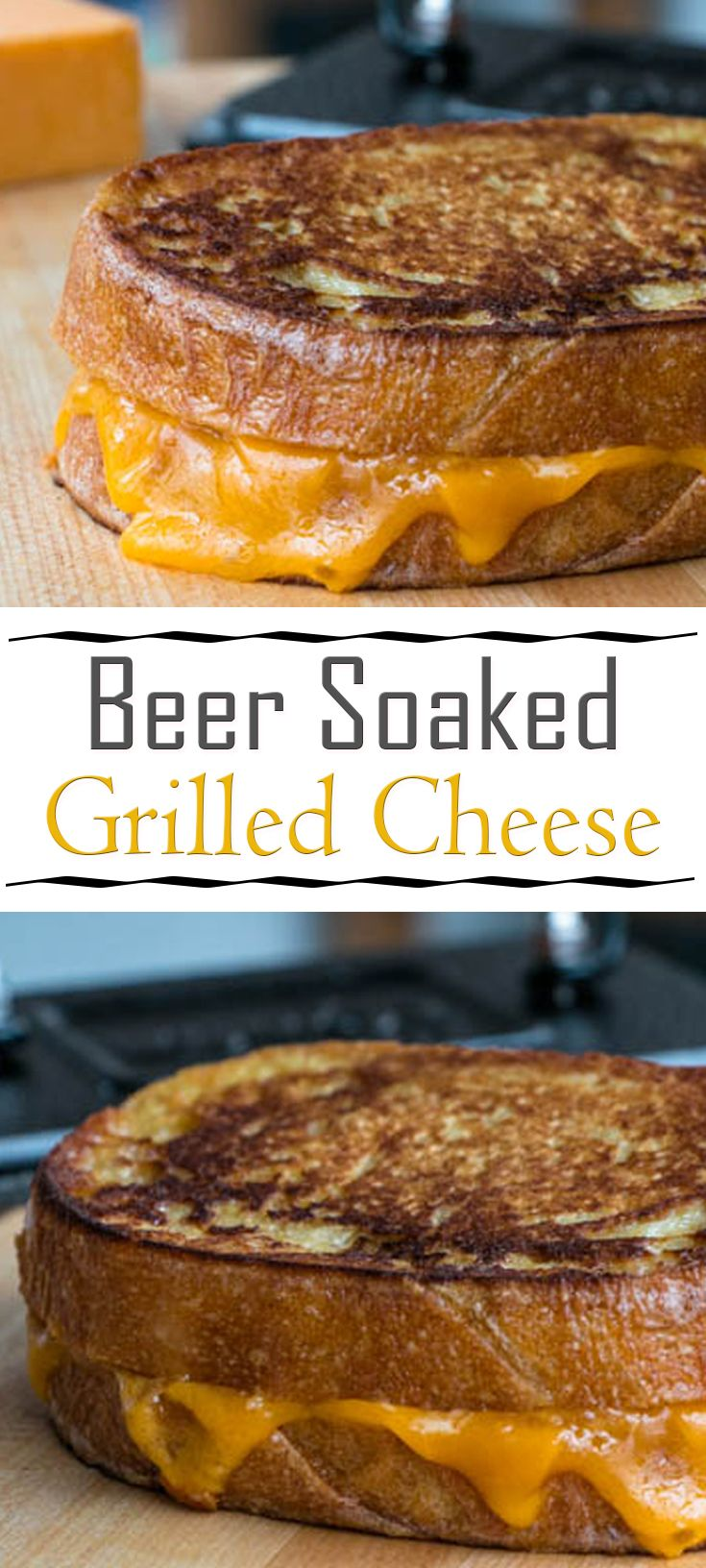 Beer Soaked Grilled Cheese