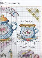Схемы вышивки: Еще для кухни, в основном чайники.