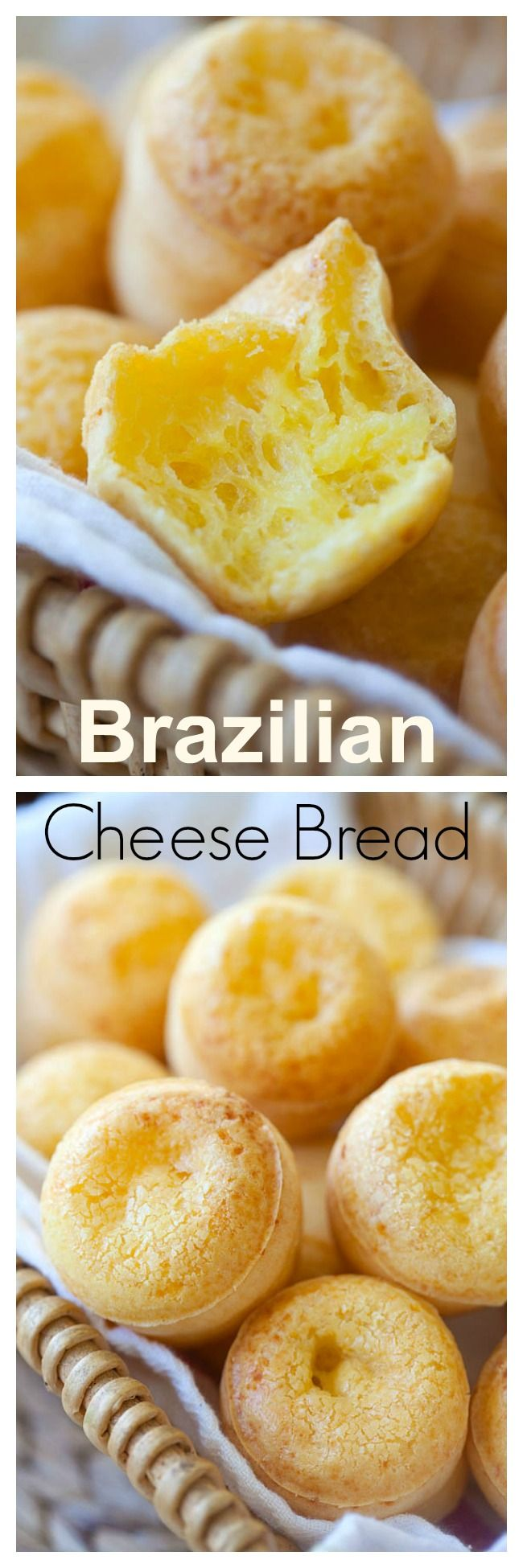 Brazilian cheese bread (Pão de Queijo) - easy 20-min recipe that yields the best and cheesiest bread, recipe by Simply Recipes - Elise Bauer | https://rasamalaysia.com