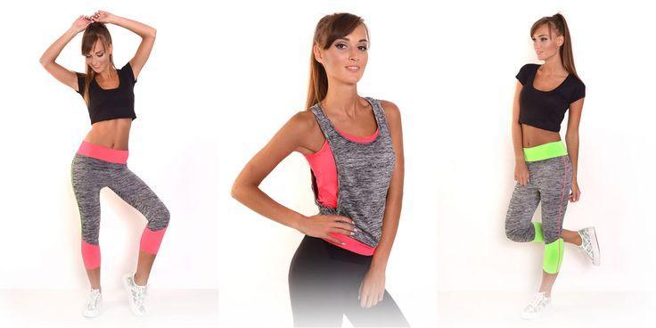 fitnes oblečenie, tričká a legíny