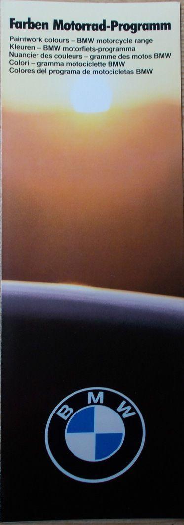 Prospekt BMW Farben R100 R80 R65 R45 2/85