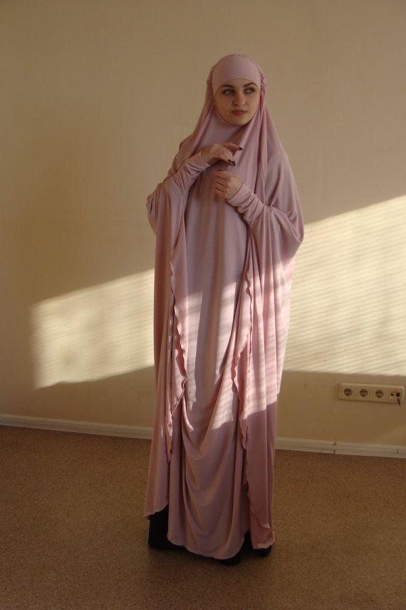 Ramadan EID sale Transformer blush Khimar Maxi dress