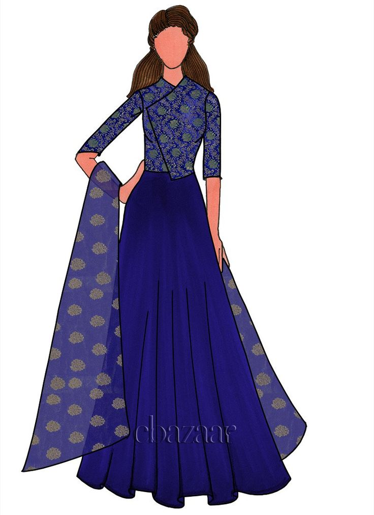 Buy Royal Blue Georgette Anarkali Suit online, SKU Code: SLBS1802401. This Blue color Party anarkali suit for Women comes with Sequins Net . Shop Now!