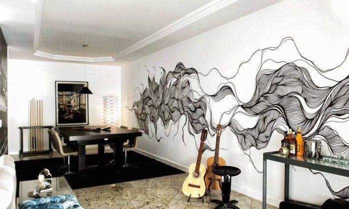 Ilustrações feitas com caneta tipo marcador invadem paredes - Jornal O Globo