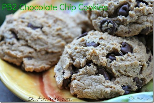 The best PB2 Chocolate Chip Cookies ever. #recipe #PB2 #cookies #fitfluential