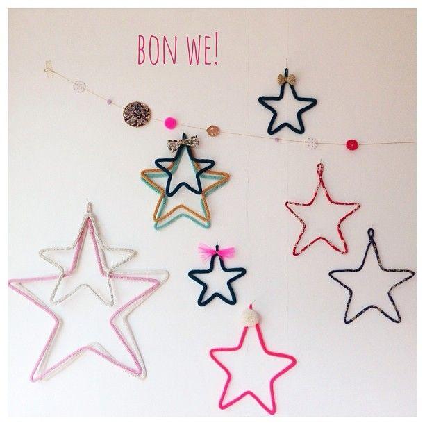 étoiles tricotin ou cordon liberty