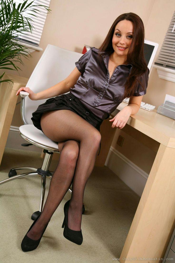 Pin On Secretaries, Stockings  Pantyhose