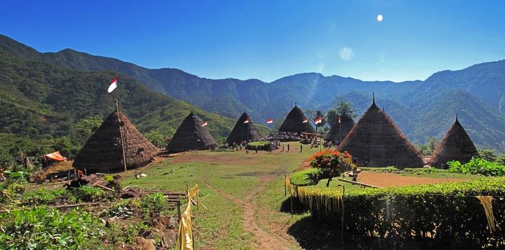 2012 - Mbaru Niang, Wae Rebo Village, Flores Island, East Nusa Tenggara, Indonesia.