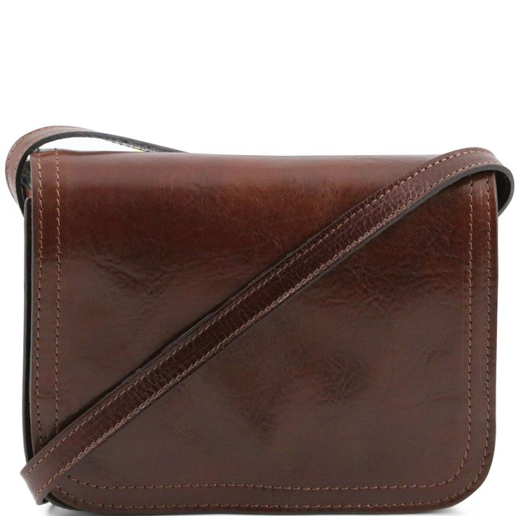 Jenny TL141251 Shoulder leather bag with flap large size - Tracollina in pelle con pattella misura grande