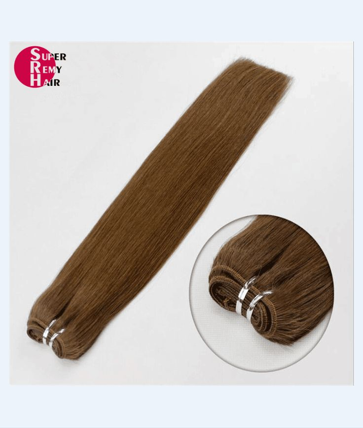 Hair weft 7A grade 100% human hair extensions 12-30 inch dark color
