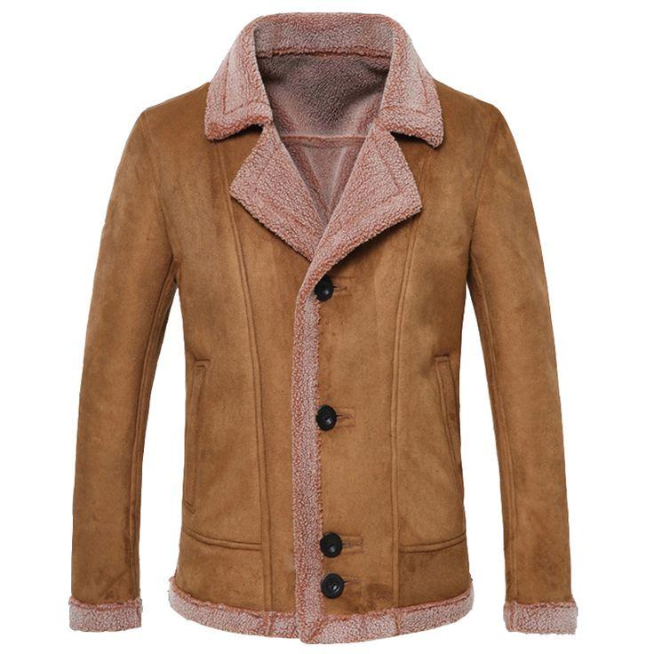 >> Click to Buy << Retro Winter Mens Fur Leather Jacket Italian Style Super Quality Warm Cashmere Fur Jacket Men Trench Coats Brand Designer C152 #Affiliate