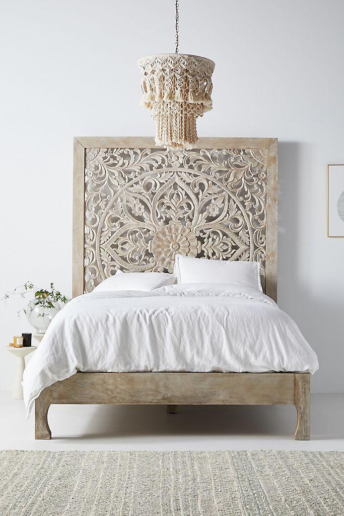Handcarved Lombok Bed In 2020 Unique Bed Frames Boho Bed Frame Bed Frame