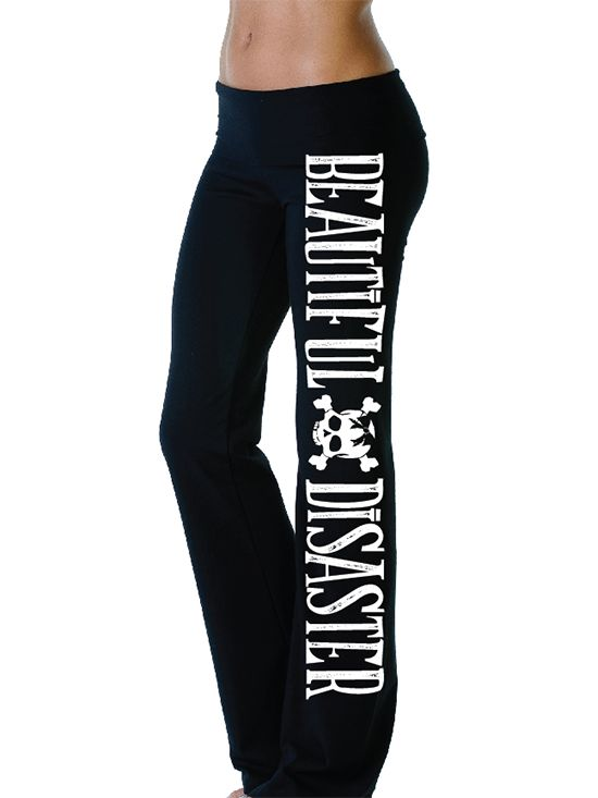 "Women's ""Gwen"" Yoga Pants by Beautiful Disaster (Black)  size L or XL pleeeaassee!!"
