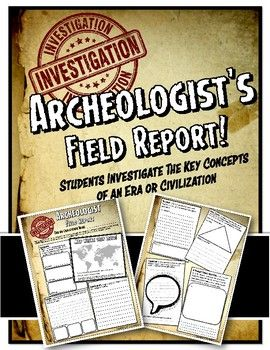 Archaeologist's Field Report for Ancient World History or Medieval History
