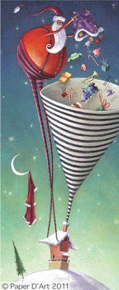 *Reuben McHugh* ~ Santa delivering gifts via funnel.  Too smart!