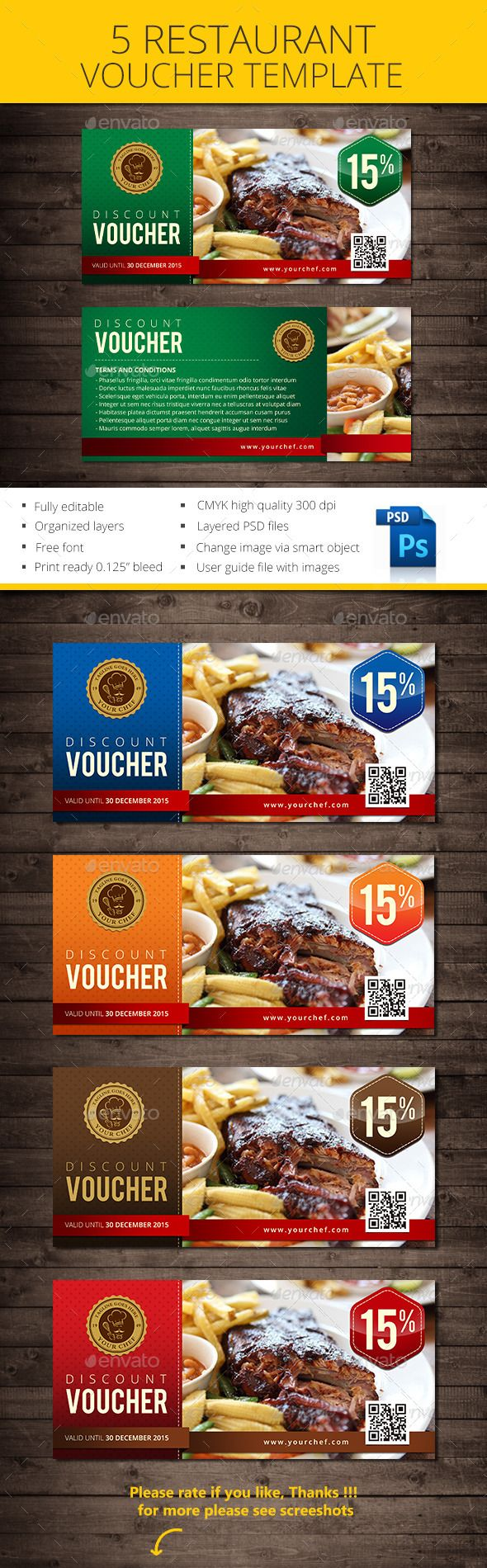 Restaurant Voucher  Lunch Voucher Template