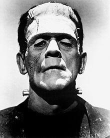 Doctor Frankenstein's creation; actor Boris Karloff in full movie monster makeup. By the time the film's sequel, Bride of Frankenstein, arri...
