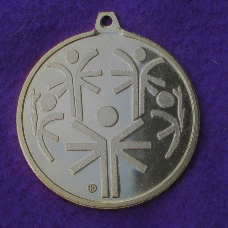 Large Round Gold Tone Souvenir Medal Coin SPECIAL OLYMPICS Logo Winter Sports
