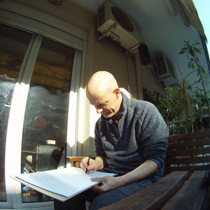 Drawing on the balcony! #supportart #support #artists #worldofpencils #art_motive #arte #art_collective #art_we_inspire #art_empire #artsy #sketch #draw #drawing #pencil #arts_help #artsanity #worldofpencils #worldofartists #artwork #graphite #sketchbook #draw #robart #paper #pencildrawing #artoftheday #photooftheday #wip #instaart #worldofpencil instagram | art | ideas | follow