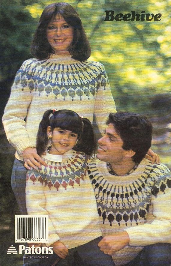 CHUNKY Fair Isle Family Fun Nordic Sweater Sizes 6-42 pattern athttps://www.etsy.com/listing/587337978/chunky-fair-isle-family-fun-nordic