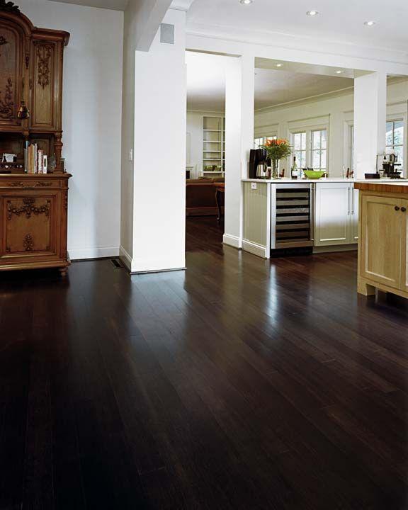 Love This Kitchen The Beams Wood Floors White Cabinets: Bamboo Wood Flooring, Dark Bamboo Flooring And Grey Walls