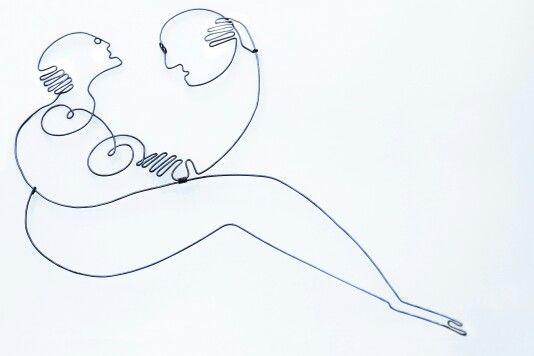 L'amour | galvanized wire | 50 X 40 cm | SOLD | contact & sales: artbending@gmail.com |  Photo credit: Paula Gecan