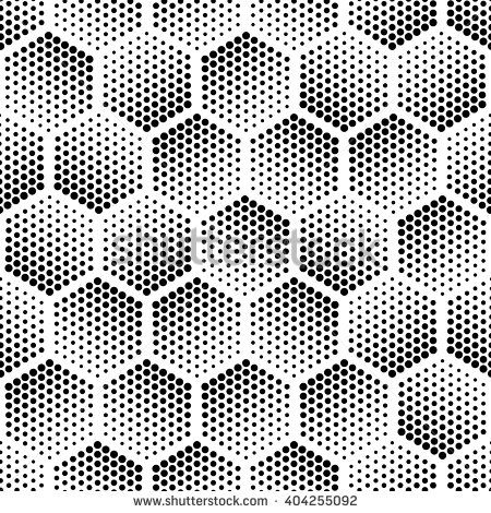 Vector Light Gray Geometric Halftone Seamless Pattern