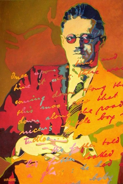 James Joyce by Barrie Maguire on ArtClick.ie