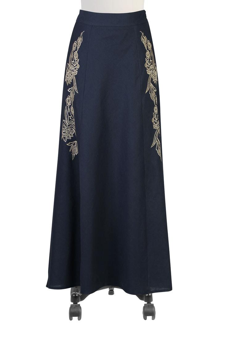 Womens long skirts - Black Skirt, White Skirt, Long Skirt, Denim chambray Skirts - Women's designer clothing -   eShakti.com