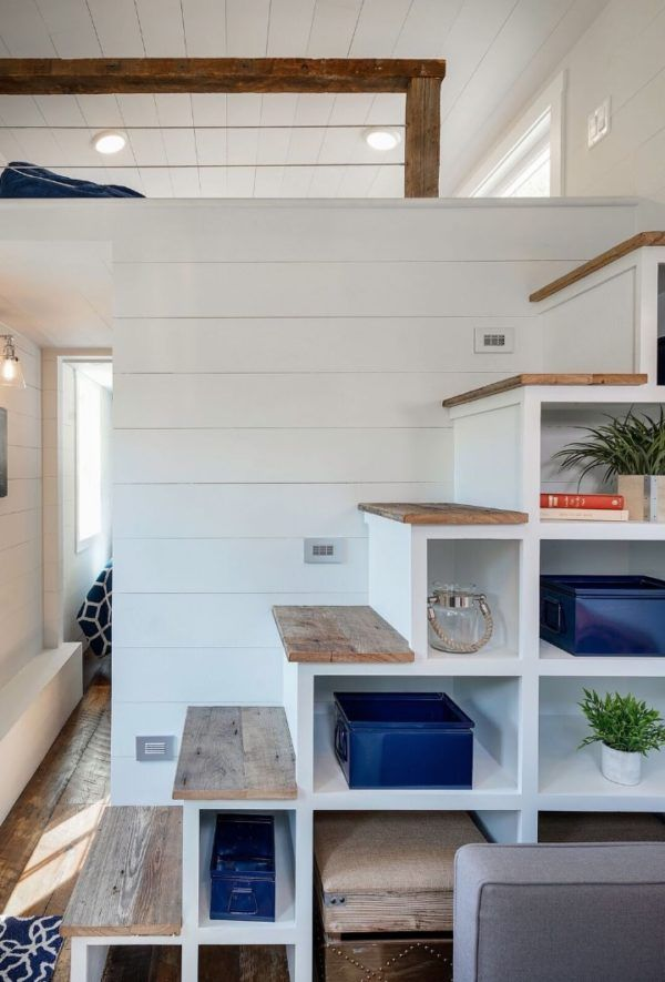 stairs furniture. brilliant stairsstorage idea in indigo tiny house by driftwood homes 004 stairs furniture e