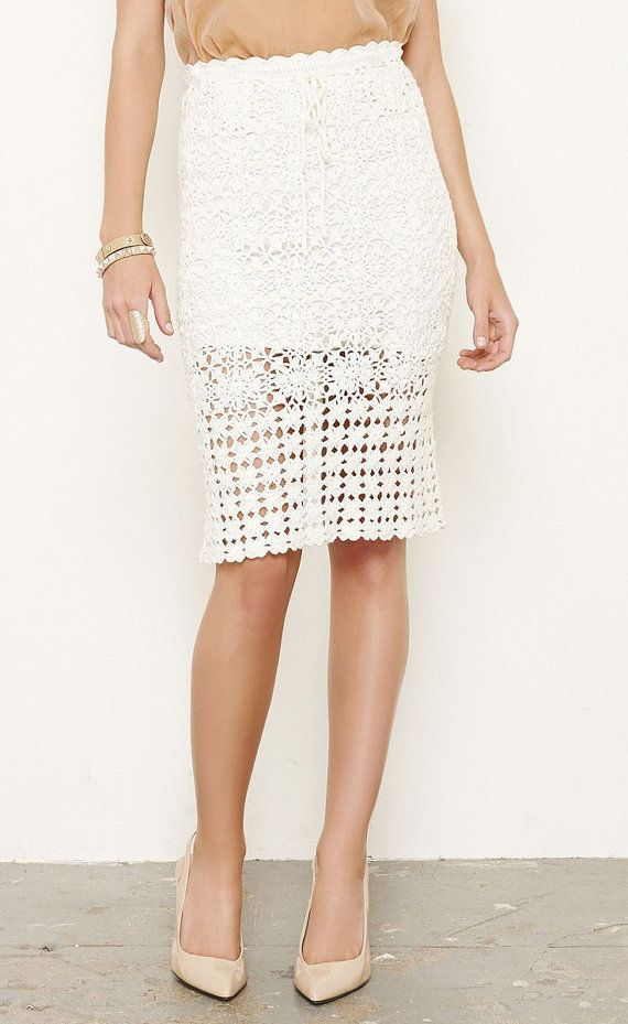CROCHET FASHION TRENDS exclusive  crochet skirt - made to order