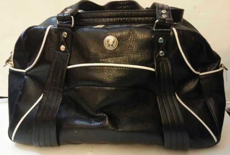 Lululemon Velocity Yoga Gym Bag Black White Athletic Vintage Duffel | eBay