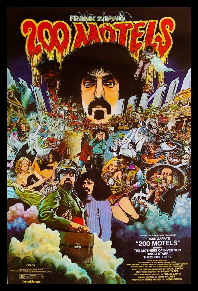 200 Motels FRIDGE MAGNET 6x8 Frank Zappa Classic Movie Poster Canvas Print