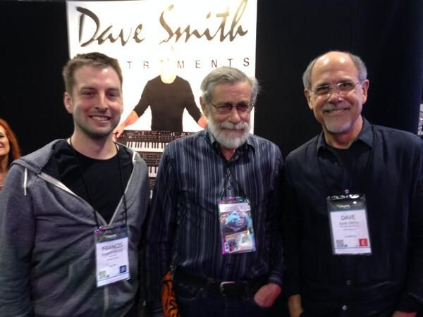 """Moog Audio on Twitter: """"Francis, from our Toronto store, with Don Buchla and @DaveSmithInst . #NAMM2014 http://t.co/wTOntlYMG9"""""""