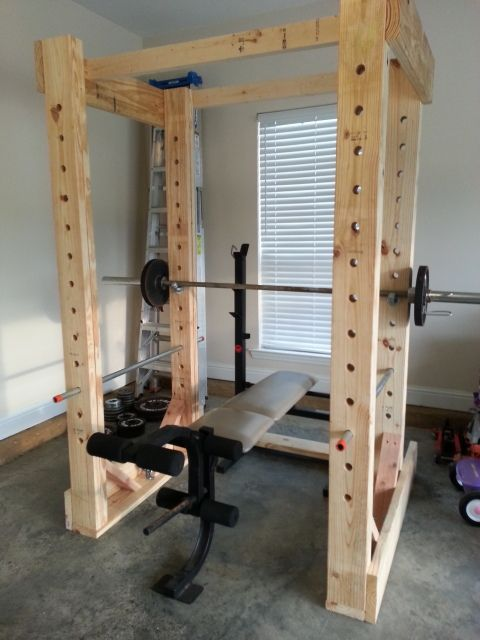 Homemade weight rack fitness gym organization