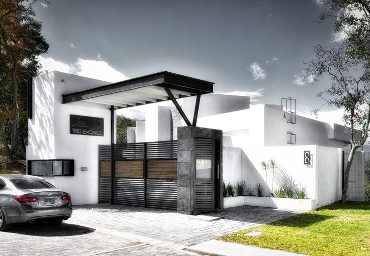 Busca imágenes de diseños de Casas estilo minimalista: 3 encinos. Encuentra las mejores fotos para inspirarte y y crear el hogar de tus sueños.