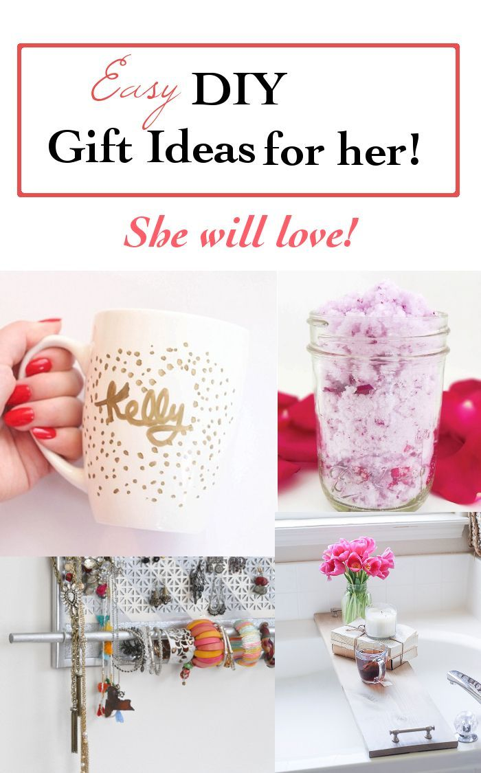 These are some awesome handmade gift ideas for her. Such easy DIY projects you make today and she will definitely love it!