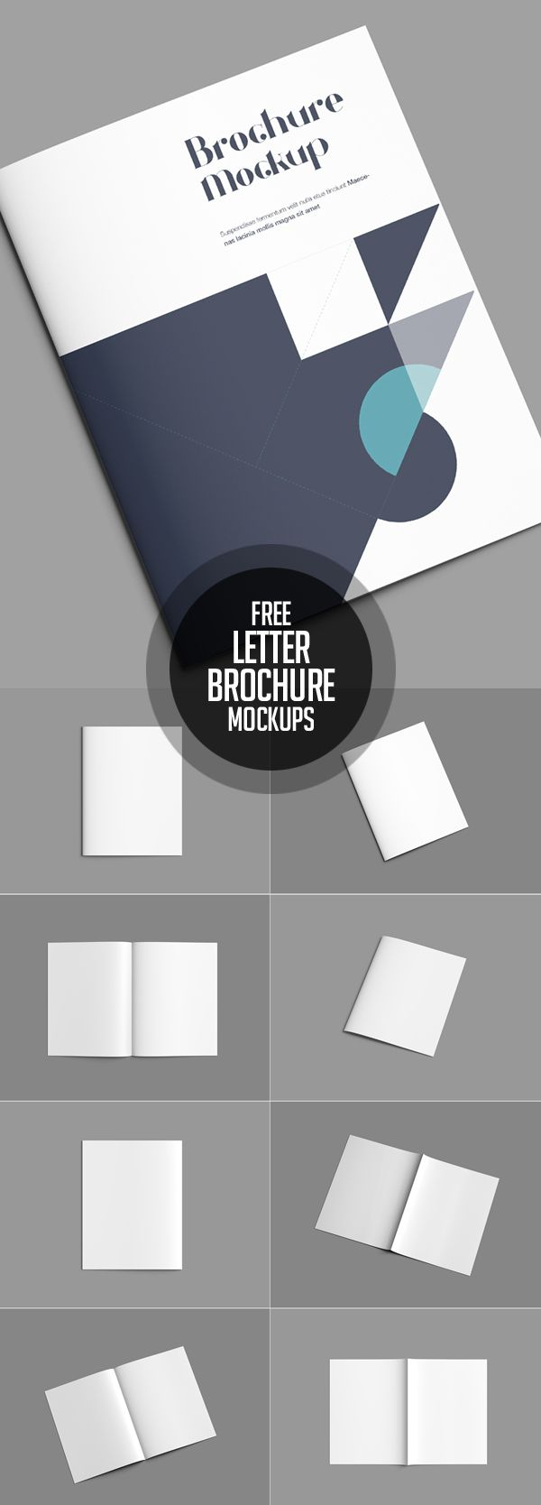 Free Letter Brochure Mockup PSD #freepsdfiles #freepsdmockups #freebies #psdmockups