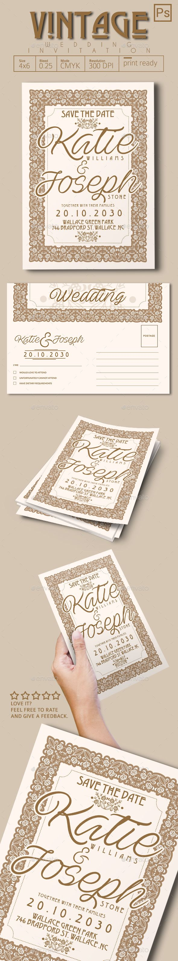 Best Images About Wedding Invitation Graphicriver On