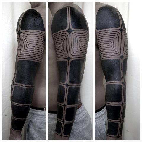 Blackout Tattoos: In der Schwärze liegt die Würze - SPIEGEL ONLINE - Nachrichten - Stil