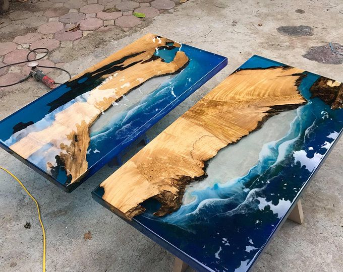 Epoxy Resin Transparent Coffee Table Handcrafted Custom 3d Etsy