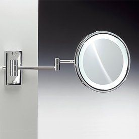 Nameeks Windisch Chromed Brass 3X Magnifying Extendable Wall Mounted S Vanity MirrorsBathroom